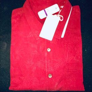 Tommy Bahama Short Sleeve Silk Shirt 2XLB NWT